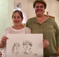Ted Key Live Caricature Portrait 78