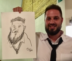 Ted Key Live Caricature Portrait 79