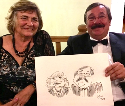 Ted Key Live Caricature Portrait 80
