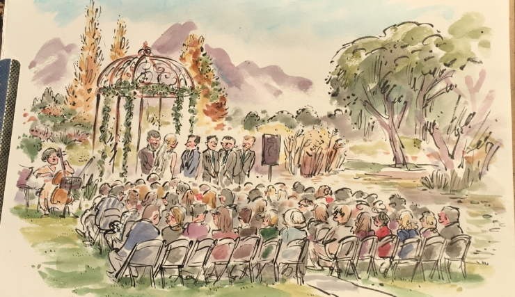 Ted Key Wedding Ceremony Drawing 1