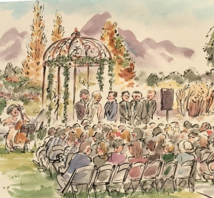 Ted Key CROP Wedding Ceremony Drawing 1