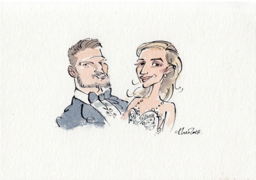 Ted Key- Studio Caricature- Cape Town -Wedding card