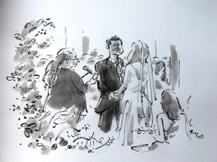 wedding ceremony drawing- cape town